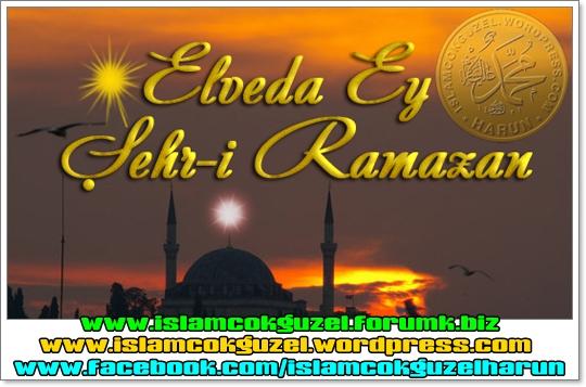 Elveda Ey şehri Ramazan Islam çok Güzel Mutluluğun Adresi